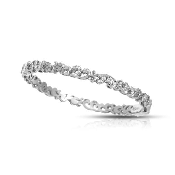 Marie Sterling Silver White Bangle-Belle Etoile-Renee Taylor Gallery