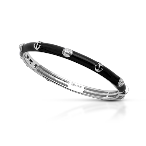 Maritime Black Bangle-Belle Etoile-Renee Taylor Gallery