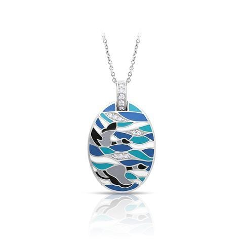 Migration Blue & Grey Pendant-Belle Etoile-Renee Taylor Gallery