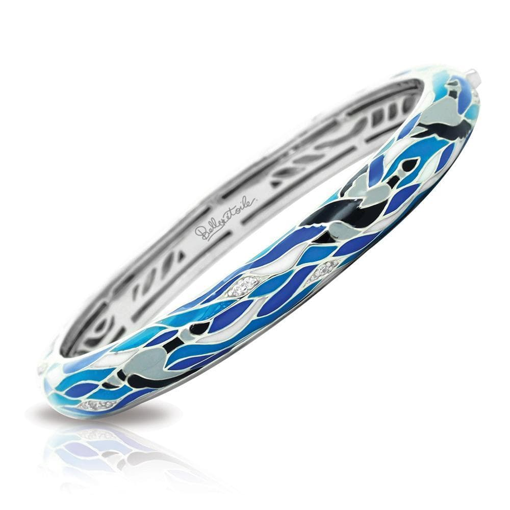 Migration Blue & Grey Bangle-Belle Etoile-Renee Taylor Gallery