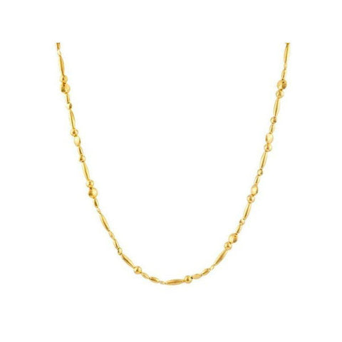 Delicate 24K Gold Necklace - N-MXGB-H-PL-18-GURHAN-Renee Taylor Gallery
