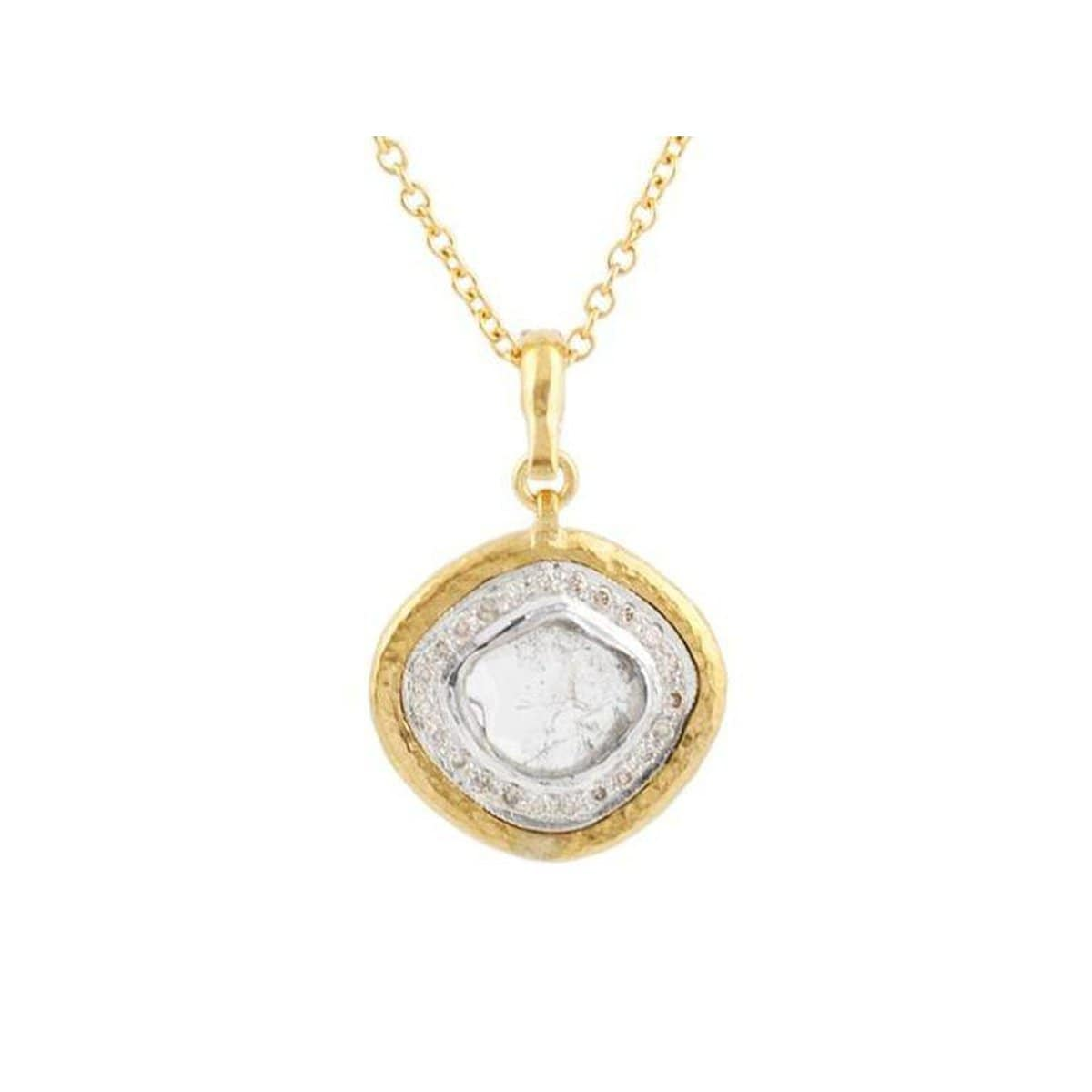 Elements 24K Gold Diamond Necklace - N-U20660-DI-AMR