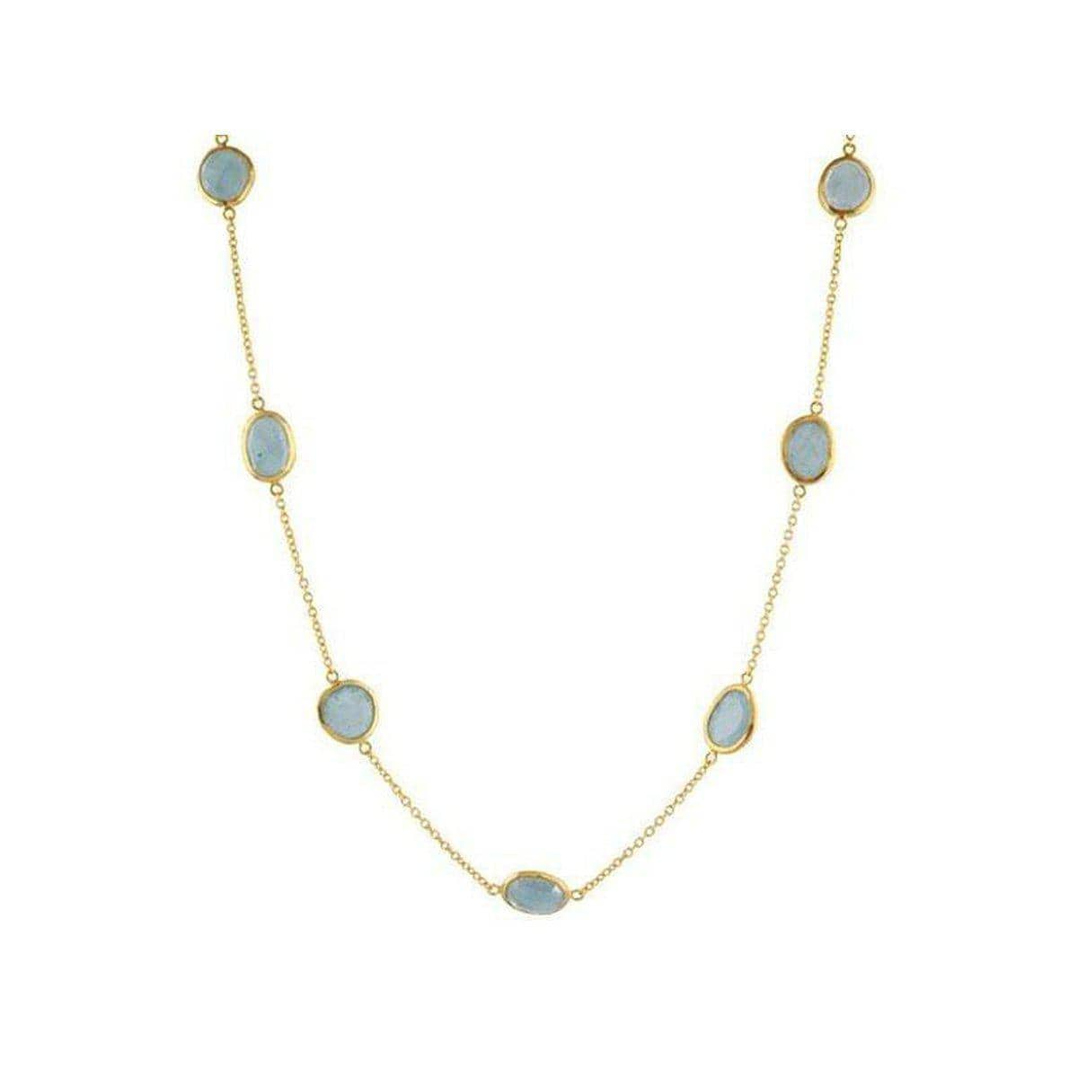 Elements 24K Gold Aquamarine Necklace - N-U20701-AQ-GURHAN-Renee Taylor Gallery