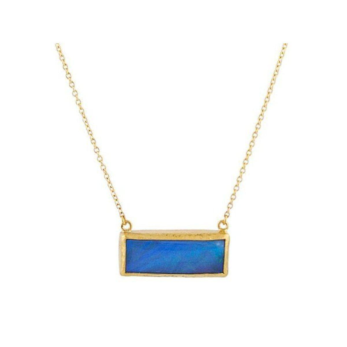 Amulet Hue 24K Gold Opal Necklace - N-U21110-OP