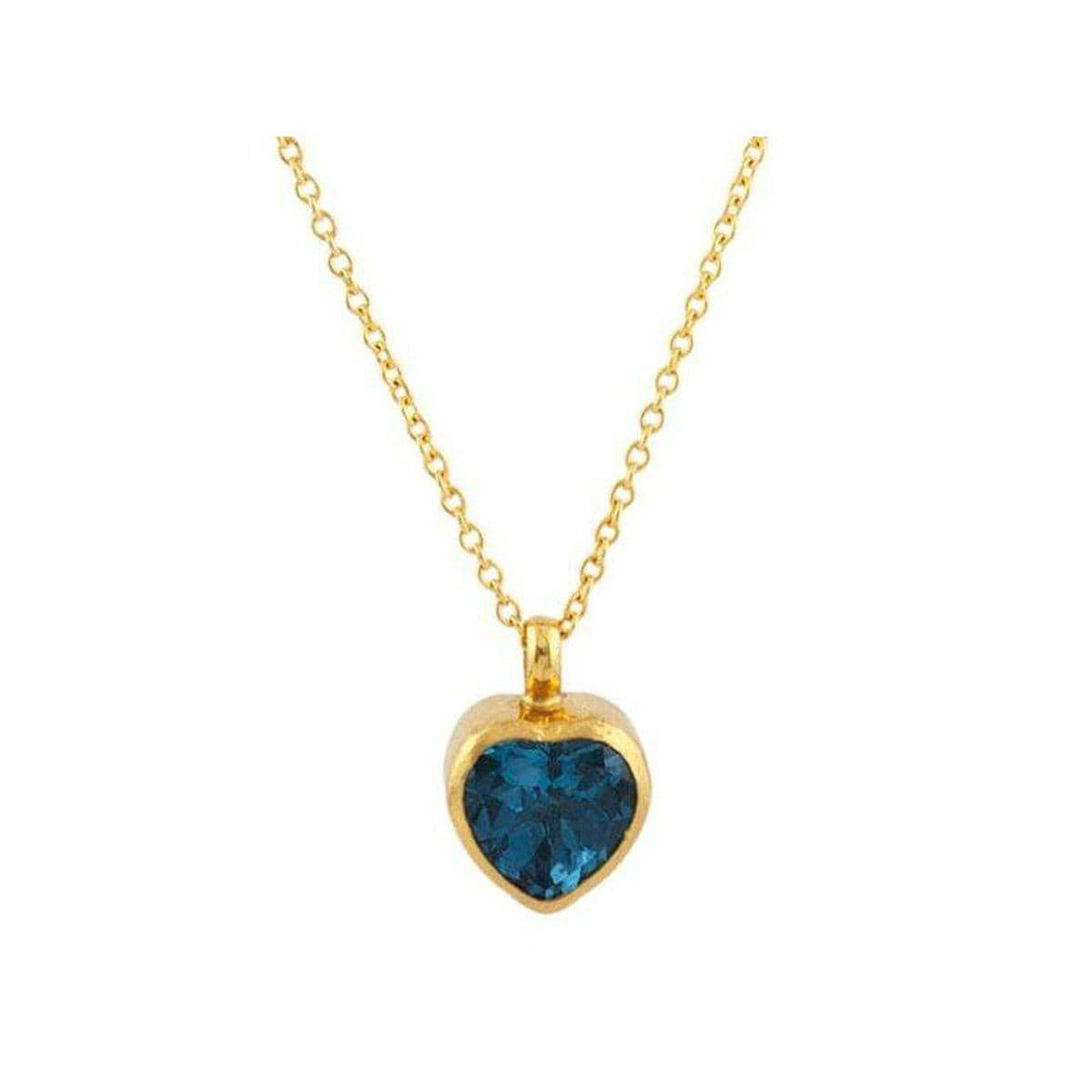 Juju 24K Gold Blue Topaz Necklace - N-U22770-BT-GURHAN-Renee Taylor Gallery