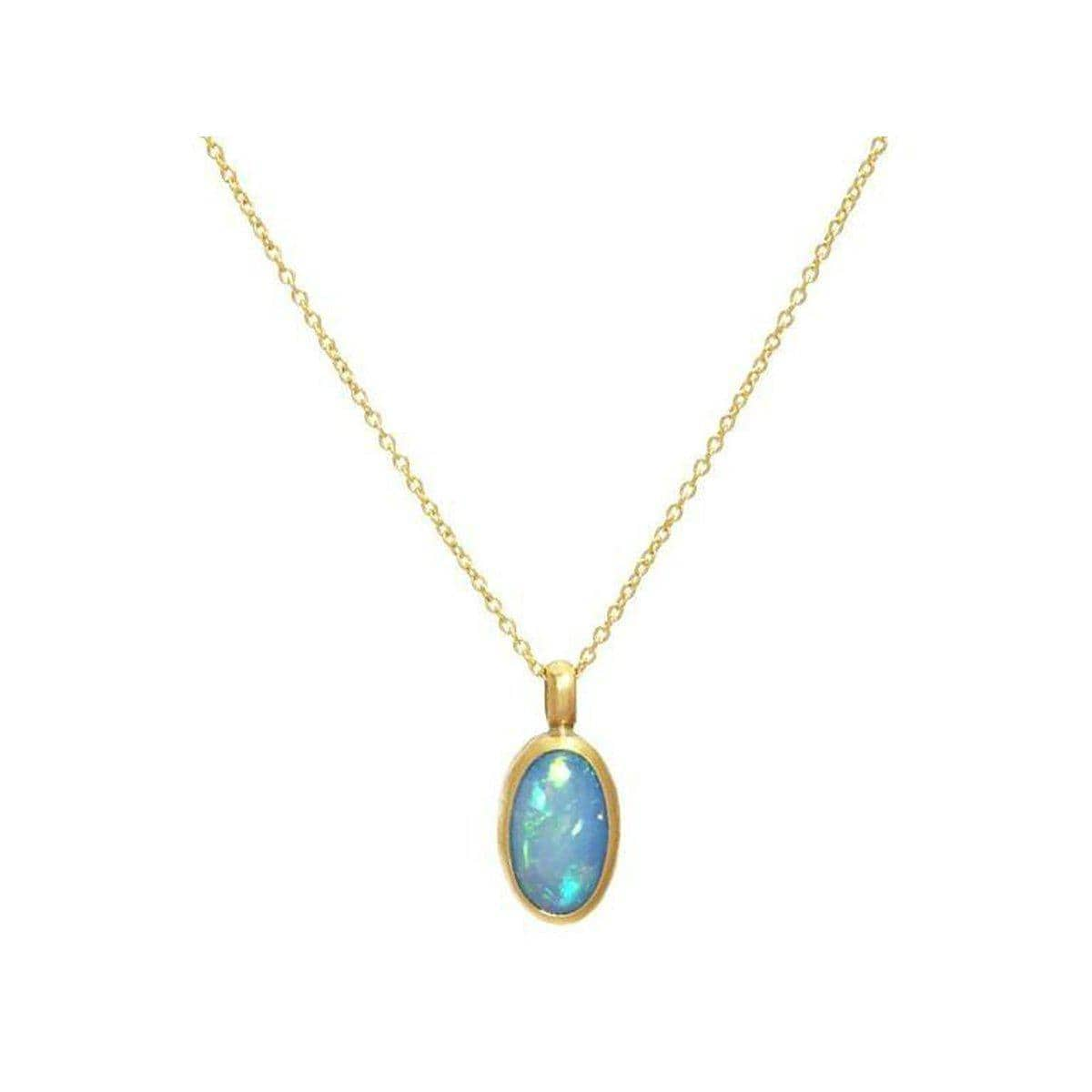 Amulet Hue 24K Gold Opal Necklace - N-U23866-OP