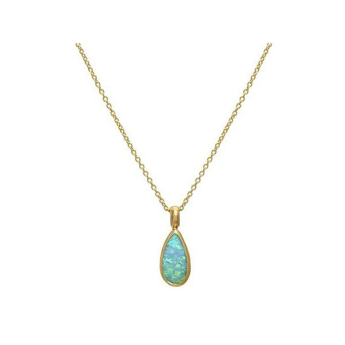 Amulet Hue 24K Gold Opal Necklace - N-U23901-OP