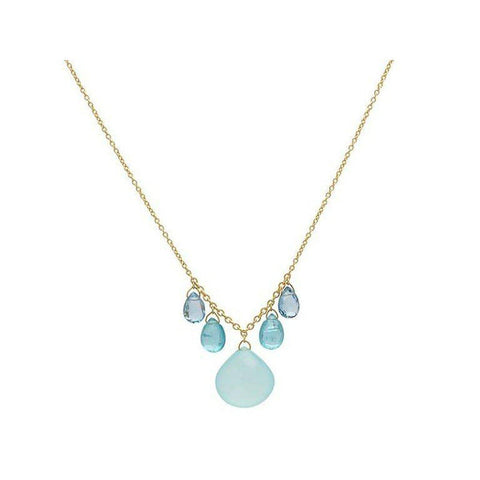 Delicate Hue 24K Gold Multi Stone Necklace - N-U24312-MS-GURHAN-Renee Taylor Gallery
