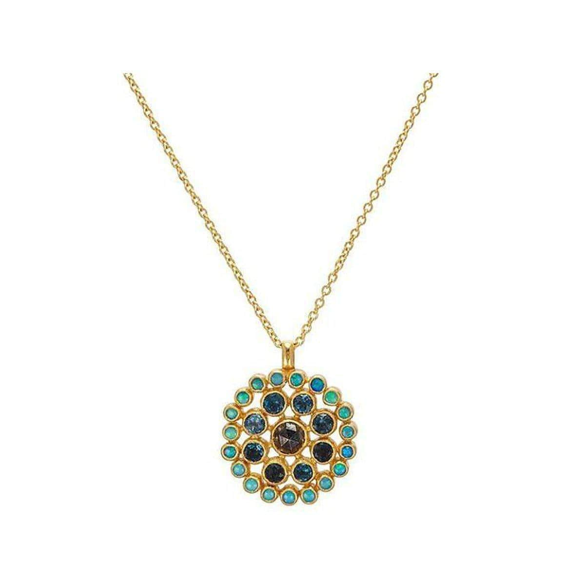 Juju 24K Gold Multi Stone Necklace - N-U24638-MS-GURHAN-Renee Taylor Gallery