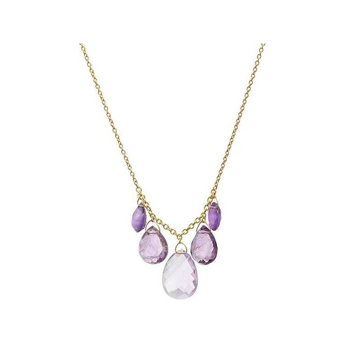 Delicate Hue 22K Gold Amethyst Necklace - N-U24991-AM