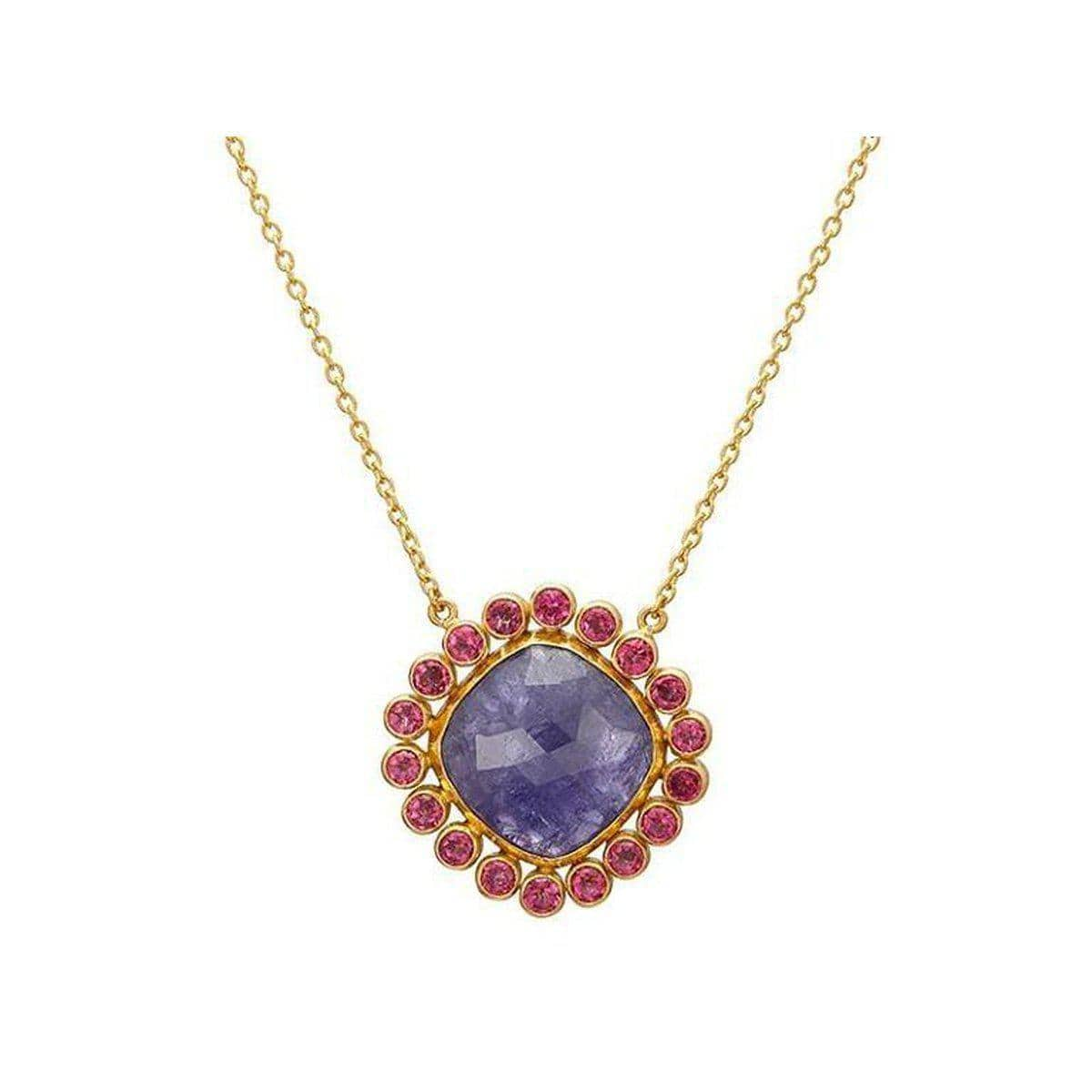 Elements 24K Gold Multi Stone Necklace - N-U25571-MS-GURHAN-Renee Taylor Gallery