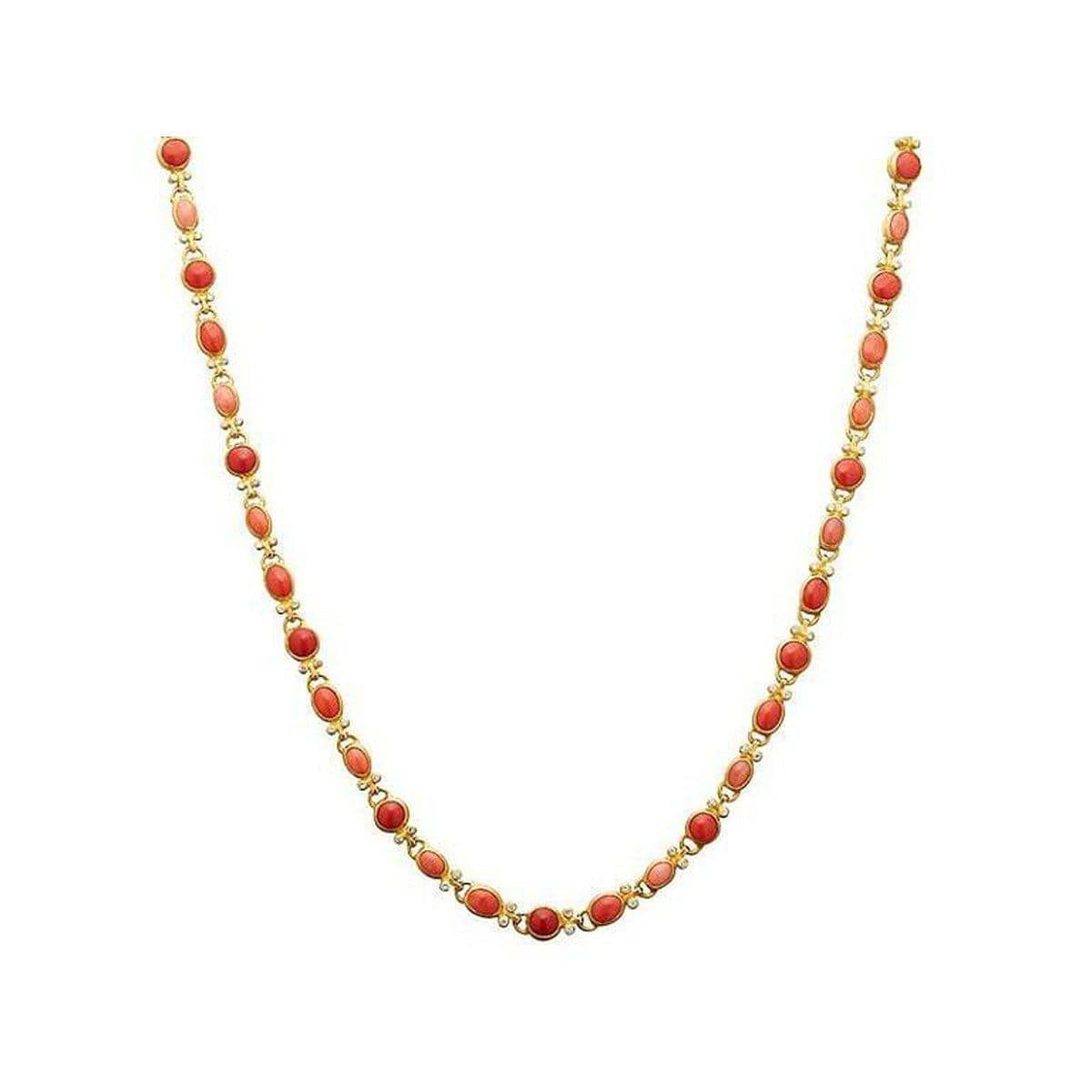 Amulet Hue 24K Gold Coral & Diamond Necklace - N-U25677-CO-GURHAN-Renee Taylor Gallery