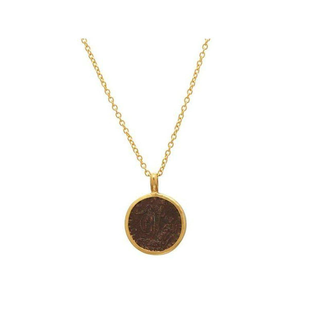 Antiquities 24K Gold Coin Necklace - N-U25839-CN
