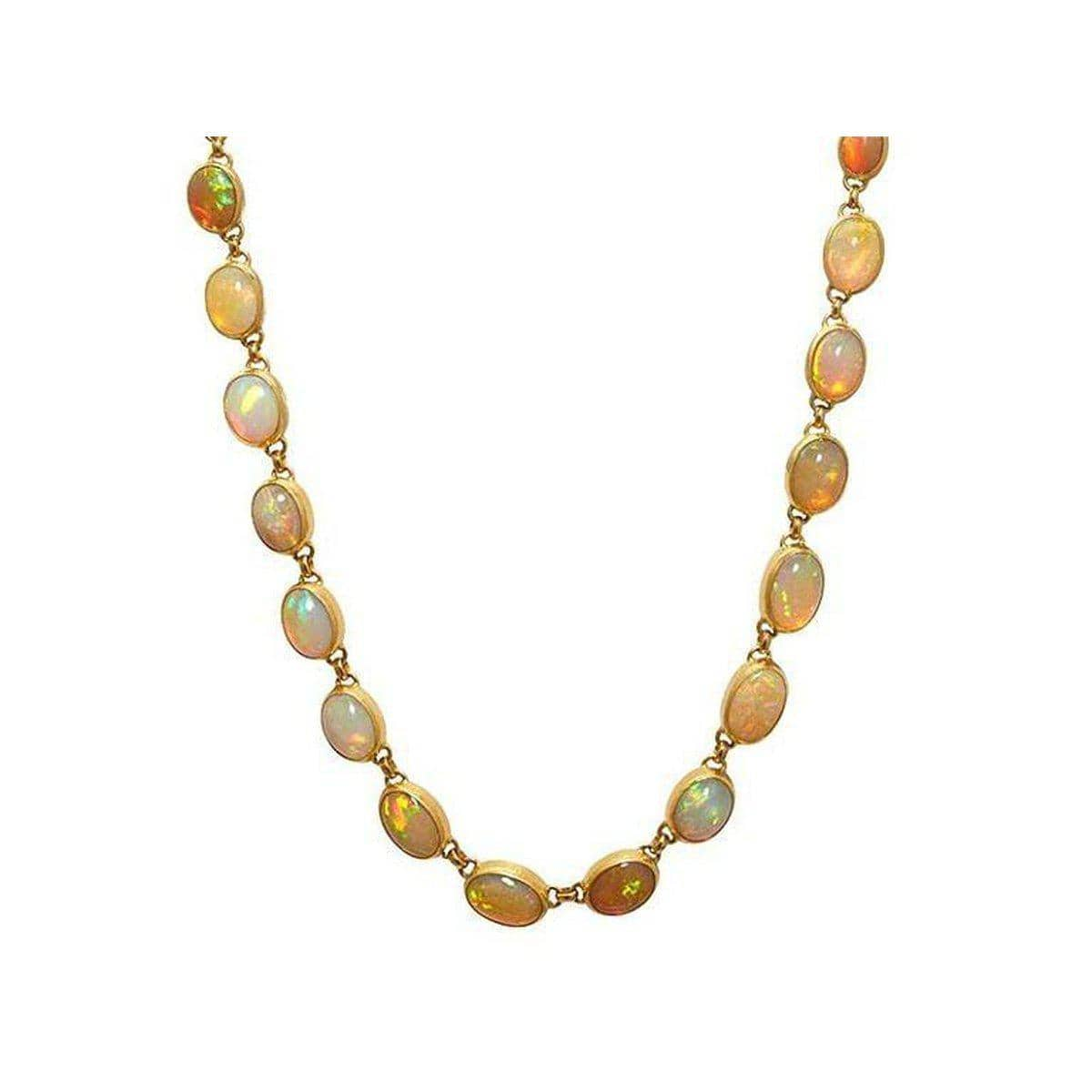 Amulet Hue 24K Gold Opal Necklace - N-U26155-ETO