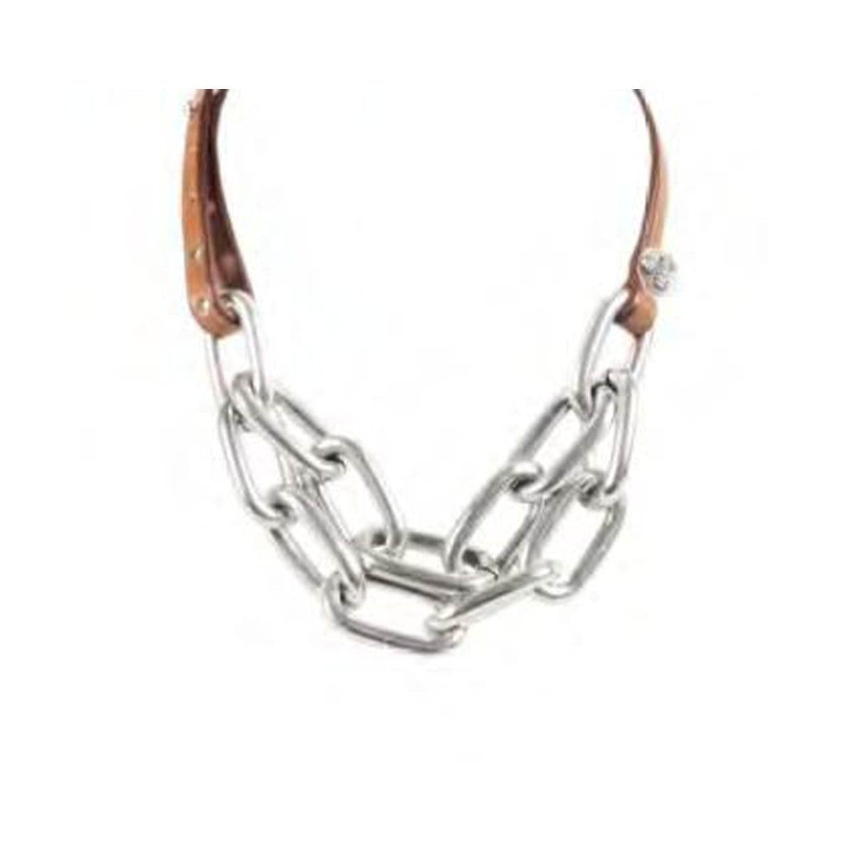 Sterling Silver Plated Leather Necklace - N0048 MCA00-CXC-Renee Taylor Gallery