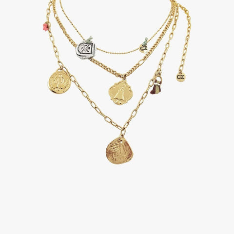 Gold & Sterling Silver Plated Necklace - N0065 ORM00-CXC-Renee Taylor Gallery