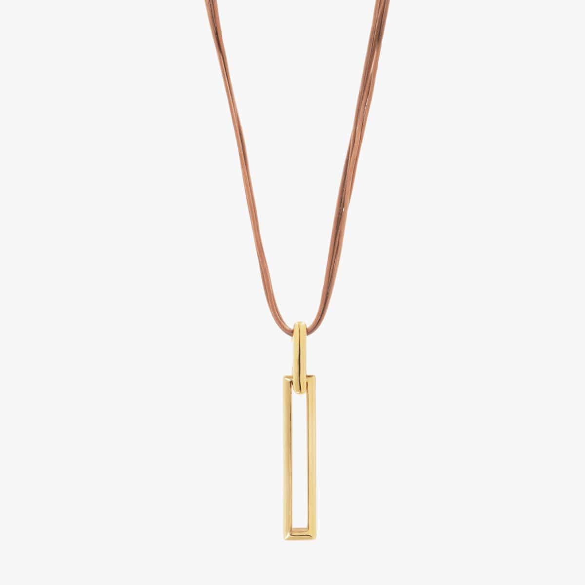 Gold Plated Leather Necklace - N0072ORC-CXC-Renee Taylor Gallery