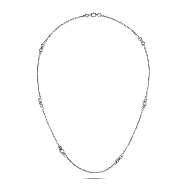 Classic Chain Knife Edge Station Necklace - NB90496-John Hardy-Renee Taylor Gallery