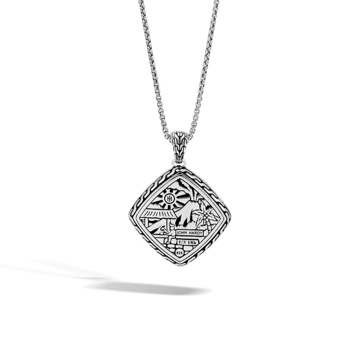 Classic Chain Hammered Pendant - NZ96154-John Hardy-Renee Taylor Gallery