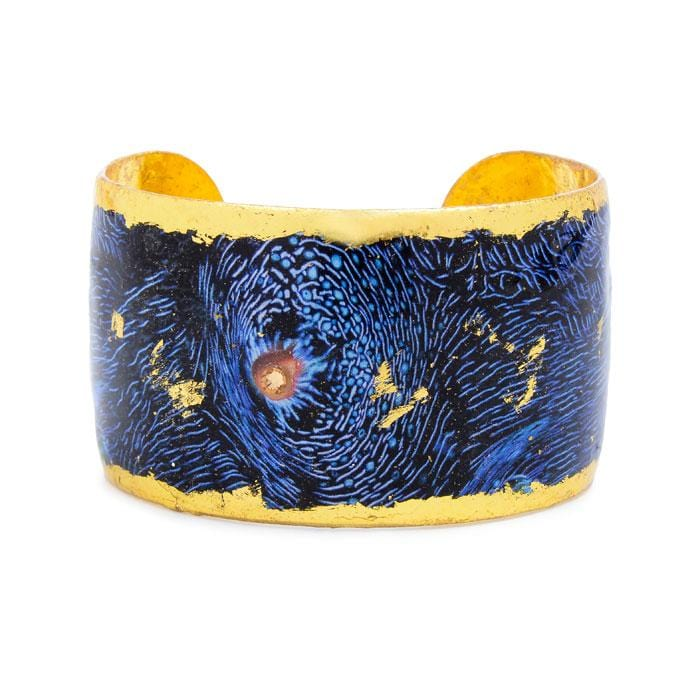 Blue Clam Gold Cuff - OC129-Evocateur-Renee Taylor Gallery