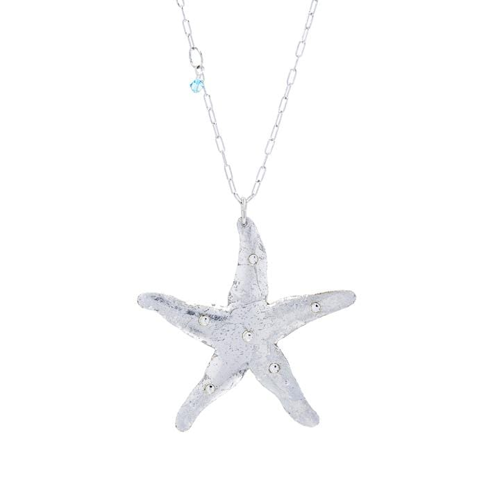Starfish Silver Necklace - OC214-Evocateur-Renee Taylor Gallery