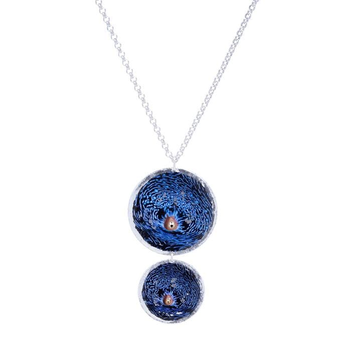 Blue Clam Double Disc Pendant - OC217-Evocateur-Renee Taylor Gallery