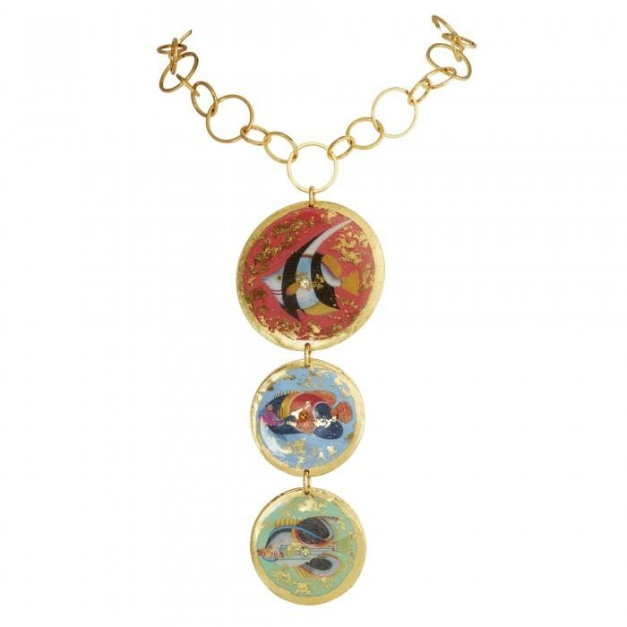 Go Fish 3 Part Necklace - OC233-Evocateur-Renee Taylor Gallery