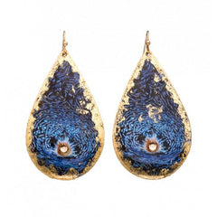 Blue Clam Teardrop Earrings - OC404-Evocateur-Renee Taylor Gallery
