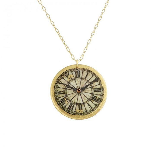 Victorian Clock Necklace - OT221-Evocateur-Renee Taylor Gallery