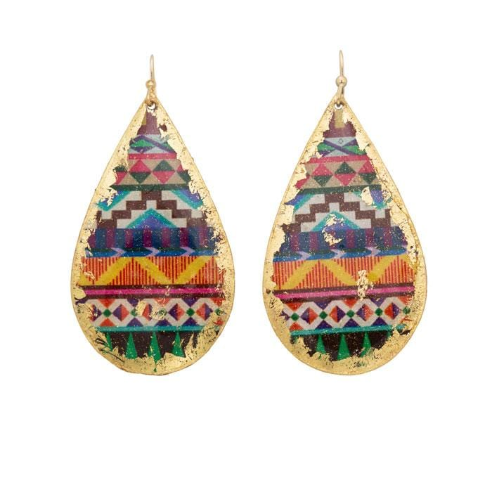 Aztec Earrings - OT403-Evocateur-Renee Taylor Gallery