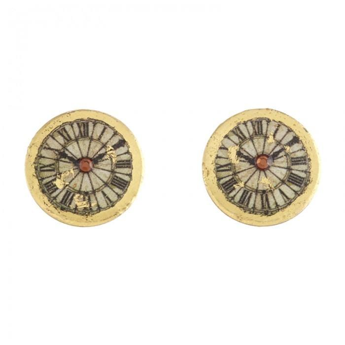 Victorian Clock Stud Earrings - OT412-Evocateur-Renee Taylor Gallery