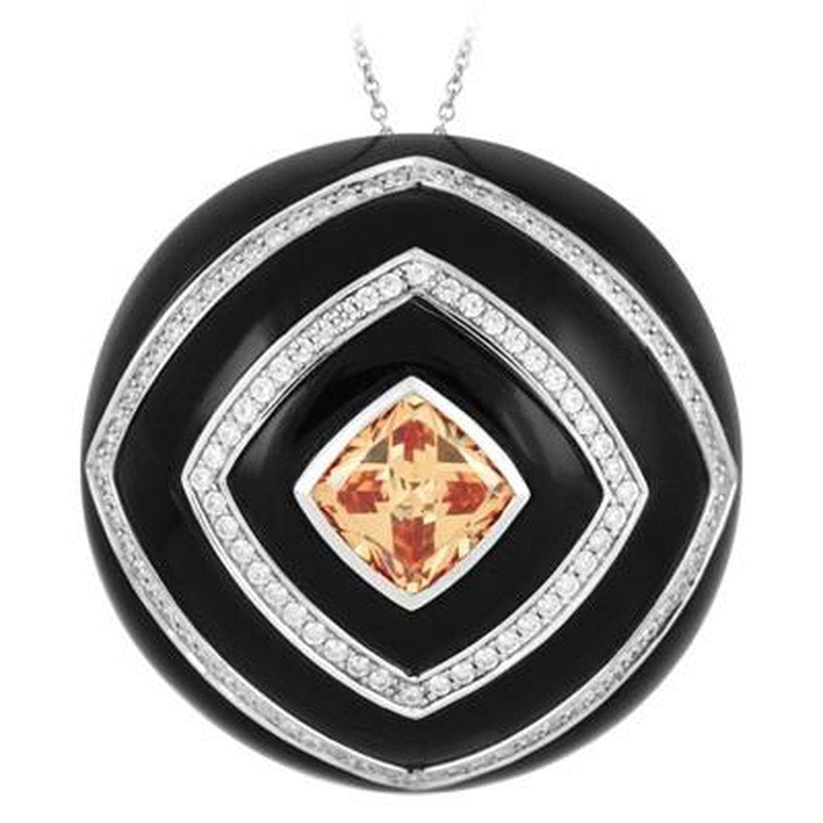 Oracle Black Pendant-Belle Etoile-Renee Taylor Gallery