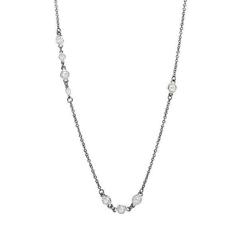 Signature Cluster Diamond By The Yard Necklace - PRZ070066-36-1-Freida Rothman-Renee Taylor Gallery