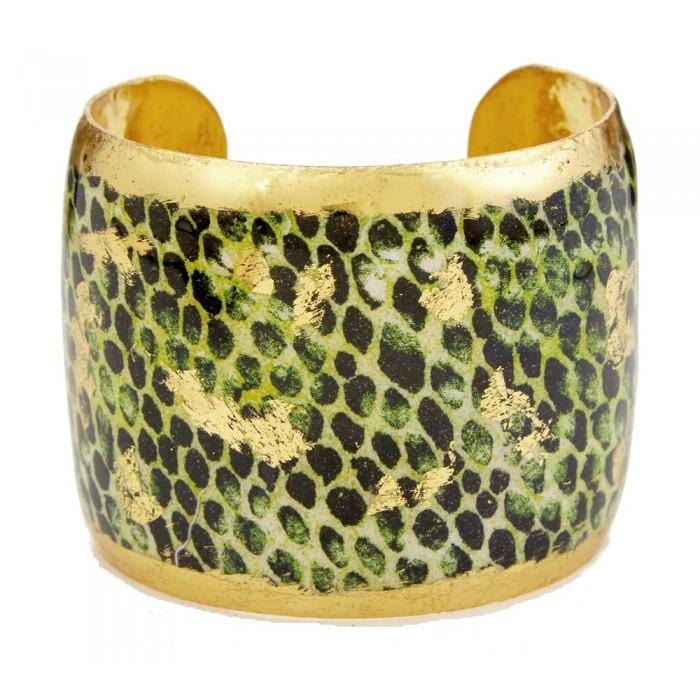 Snakeskin Green Cuff - PY111-Evocateur-Renee Taylor Gallery