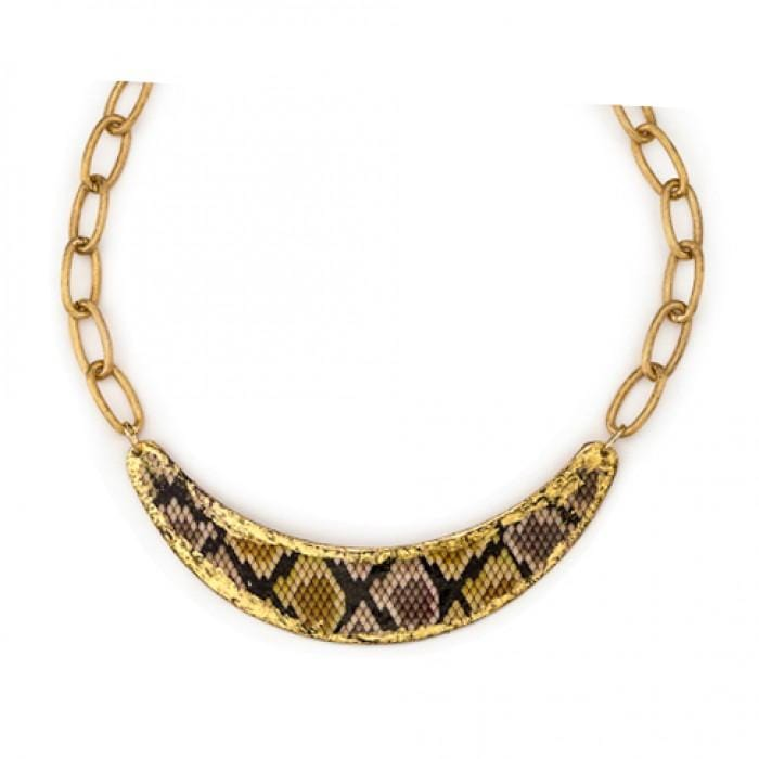 Python Brown Boomer Pendant - PY203-Evocateur-Renee Taylor Gallery