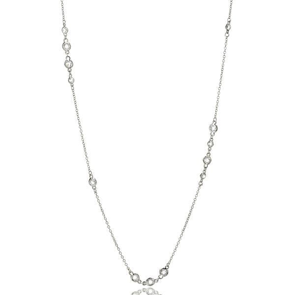 Signature Cluster Diamond By The Yard Necklace - PZ070066-36-Freida Rothman-Renee Taylor Gallery