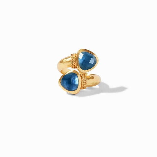 Paris Duet Gold Iridescent Azure Blue Ring - R145GIAB-Julie Vos-Renee Taylor Gallery
