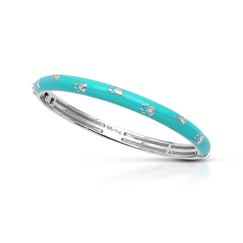 Paw Prints Turquoise Bangle-Belle Etoile-Renee Taylor Gallery