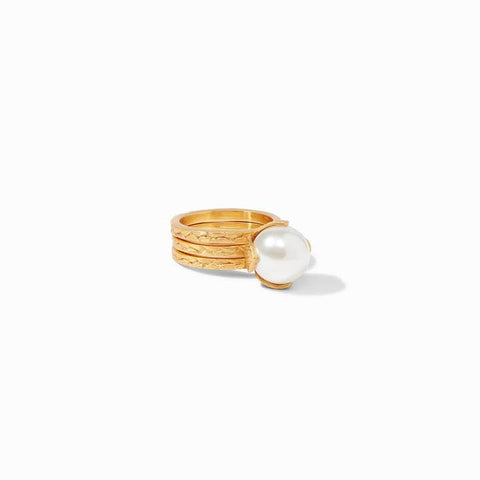 Penelope Set Gold Pearl Ring - R150GPL-Julie Vos-Renee Taylor Gallery