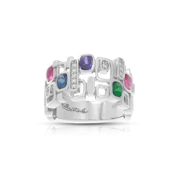 Pietra Sterling Silver Multicolor Ring-Belle Etoile-Renee Taylor Gallery
