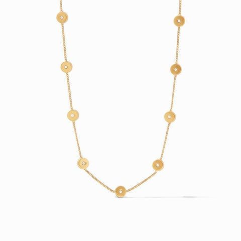 Poppy Delicate Station Gold Cz Necklace - N357GCZ00-Julie Vos-Renee Taylor Gallery