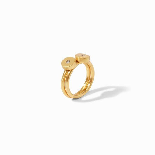 Poppy Stacking Gold Cz Ring (Set Of 2) - R157GCZ-Julie Vos-Renee Taylor Gallery