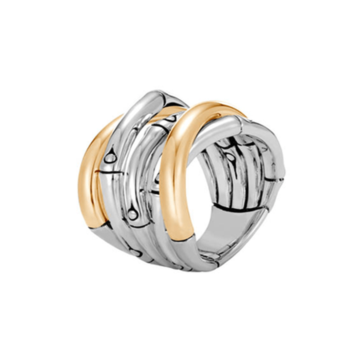 Bamboo Gold & Silver Ring - RZ57007