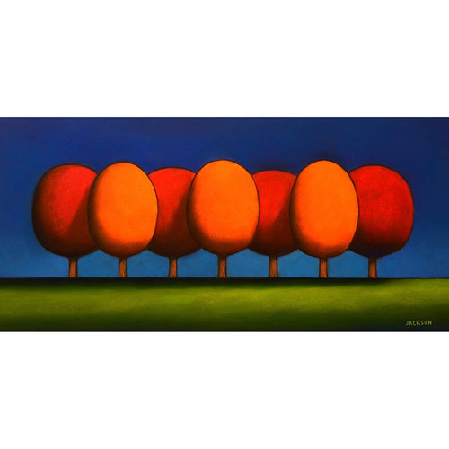 """Red and Orange Trees Mix Well Together""-Christopher Jackson-Renee Taylor Gallery"