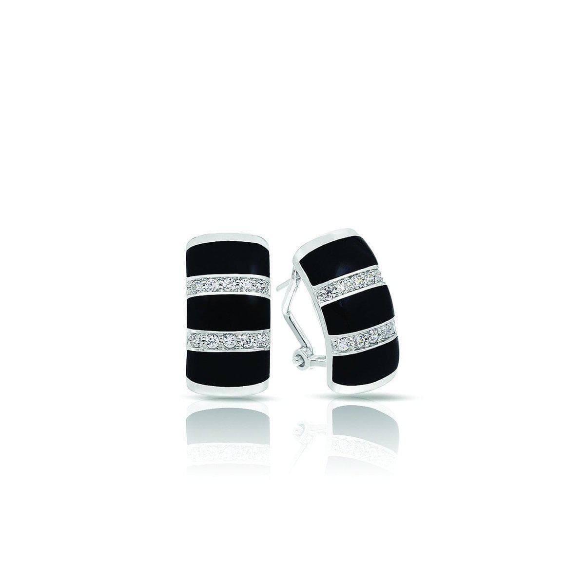 Regal Stripe Onyx Earrings-Belle Etoile-Renee Taylor Gallery