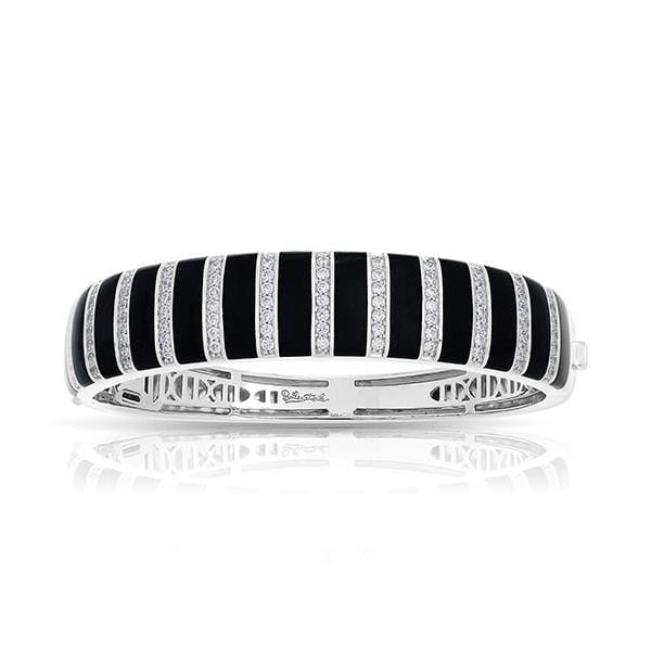 Regal Stripe Black Onyx Bangle-Belle Etoile-Renee Taylor Gallery