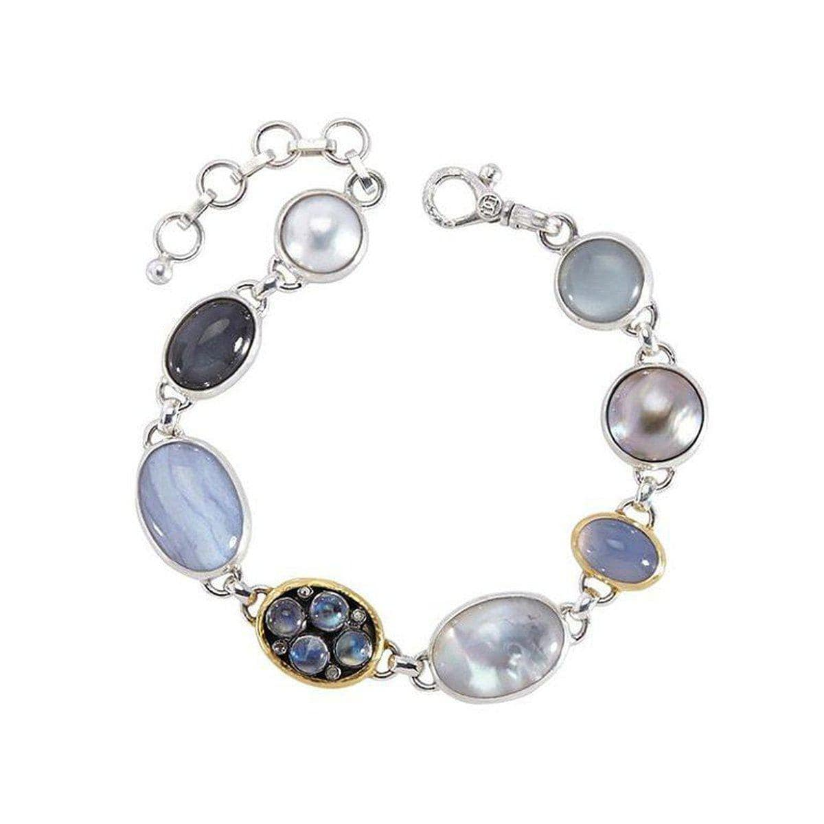 Copy of Galapagos Sterling Silver Multi Stone Bracelet - SB-U25919-MS-GURHAN-Renee Taylor Gallery
