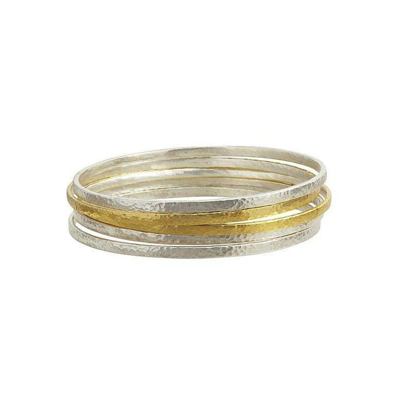 Mango Sterling Silver Bangle - SBB-5-330-3S2G-GURHAN-Renee Taylor Gallery