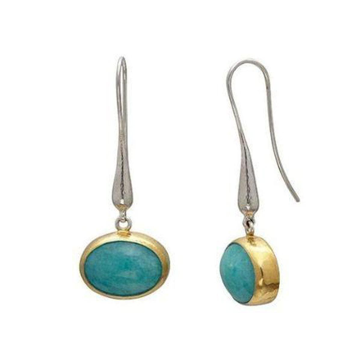 Galapagos Sterling Silver Amazonite Earrings - SE-U25390-AMA-GURHAN-Renee Taylor Gallery