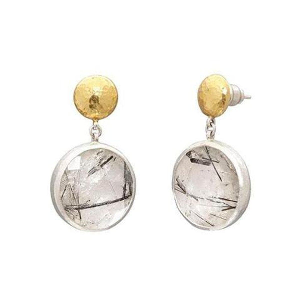 Galapagos Sterling Silver Rutilated Quartz Earrings - SE-U25728-BRQ-GURHAN-Renee Taylor Gallery